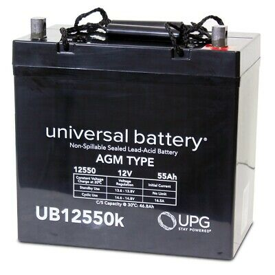 UPG UB12550 12V 55AH Battery for Quickie P222SE for sale  Aurora
