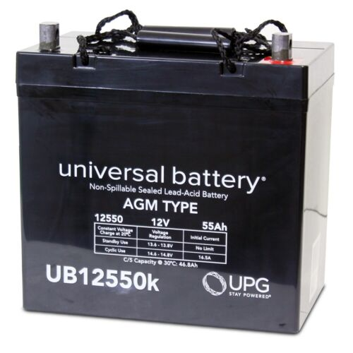 UPG UB12550 12V 55AH AGM Battery Replacement for Kinetik HC1