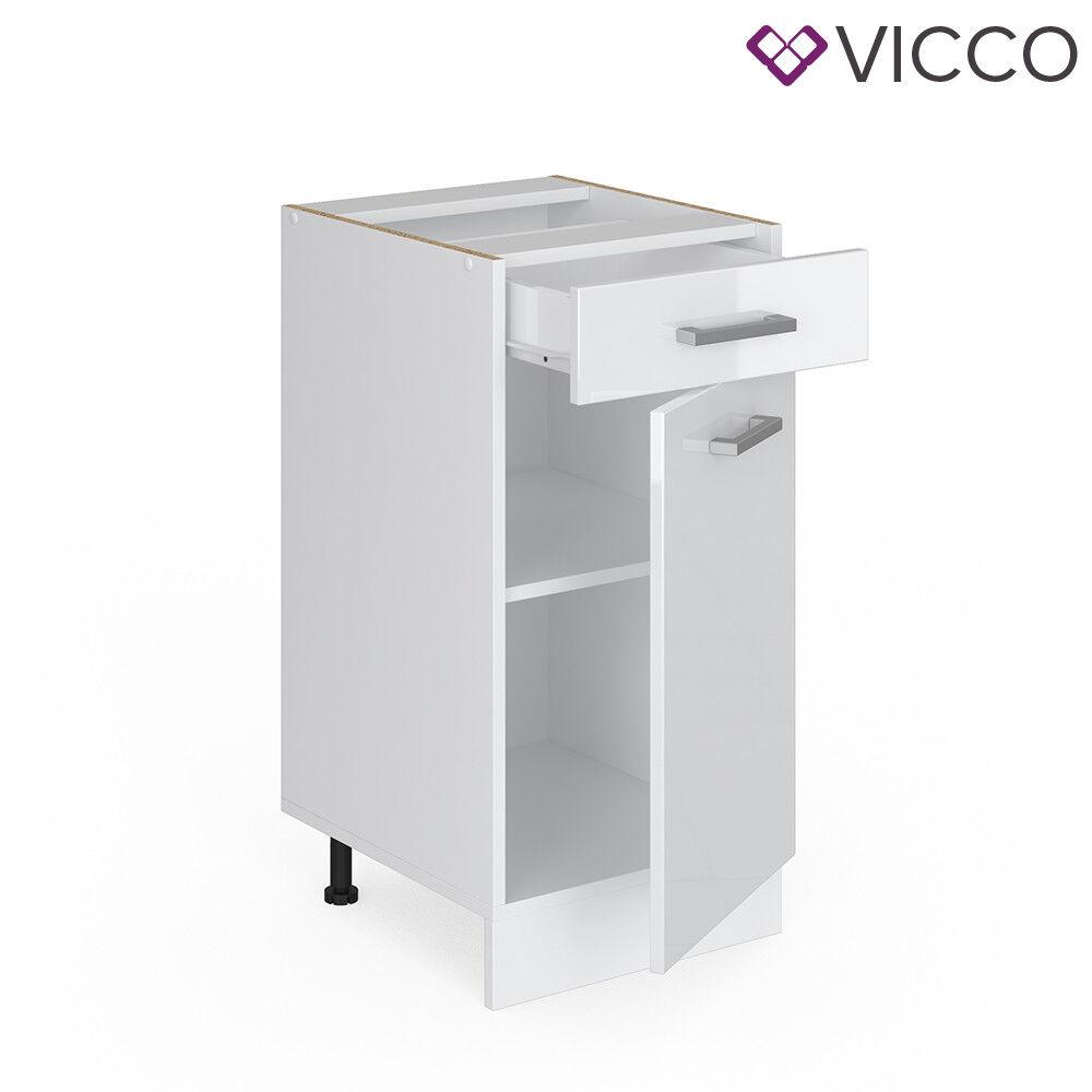 VICCO Küchenschrank Hängeschrank Unterschrank Küchenzeile R-Line Schubunterschrank 40 cm weiß