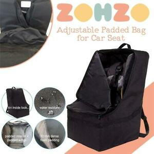 NEW Zohzo Adjustable Padded Bag for Car Seat, Black with Black Trim Condtion: New