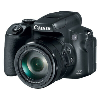 Canon PowerShot SX70 HS 20.3MP Digital Camera Black with 65x Zoom 4K Video Wifi