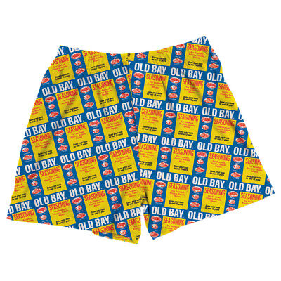 Unisex Adult Old Bay Seafood Seasoning Label Boxer Shorts ()