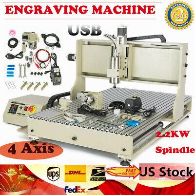Desktop Usb 2200w 4 Axis Cnc 6090 Router Engraver Metal Carving Milling Machine