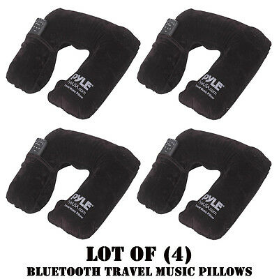 Lot of (4) New Pyle PITS18 Bluetooth Travel Music Pillow for Wireless Streaming