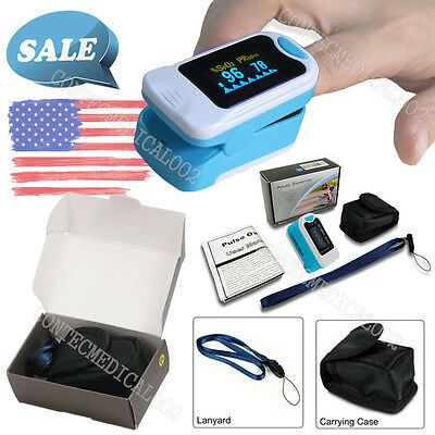 Usa Fingertip Pulse Oximeter Finger Blood Oxygen Spo2 Pi Pr Monitor Fda Ce