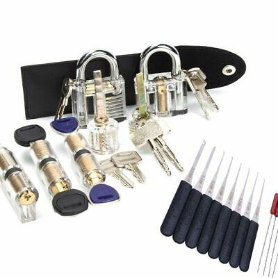 Locksmith Tools Practice Picking Set Transparent Lock Broken Key Remove Tool