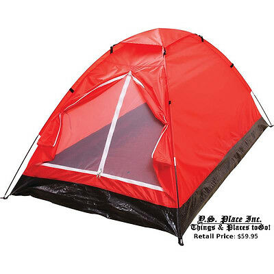 Survival Gear Red Extra-Long 2 Person Tent Camping Hiking