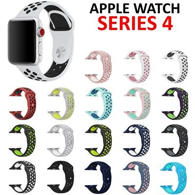 Replacement Silicone Sport Band Strap for Nike+ Apple Watch Series 4 3 40mm 44mm