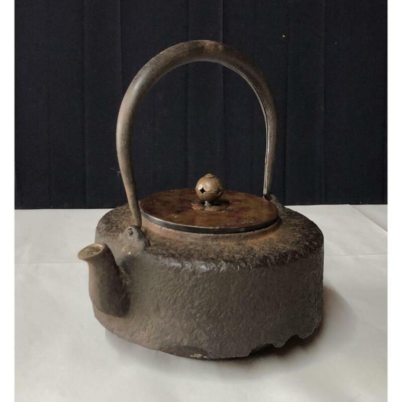 Japanese Iron Teapots 14.5 cm Tetsubin Tea Utensils Cast-iron Kettle Antique