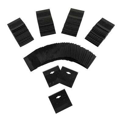 Black Plastic Earring Card Hang Jewelry Display Plain Cards 100 Pc