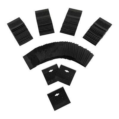 Black Plastic Earring Card Hang Jewelry Display Plain Cards 100 Pc