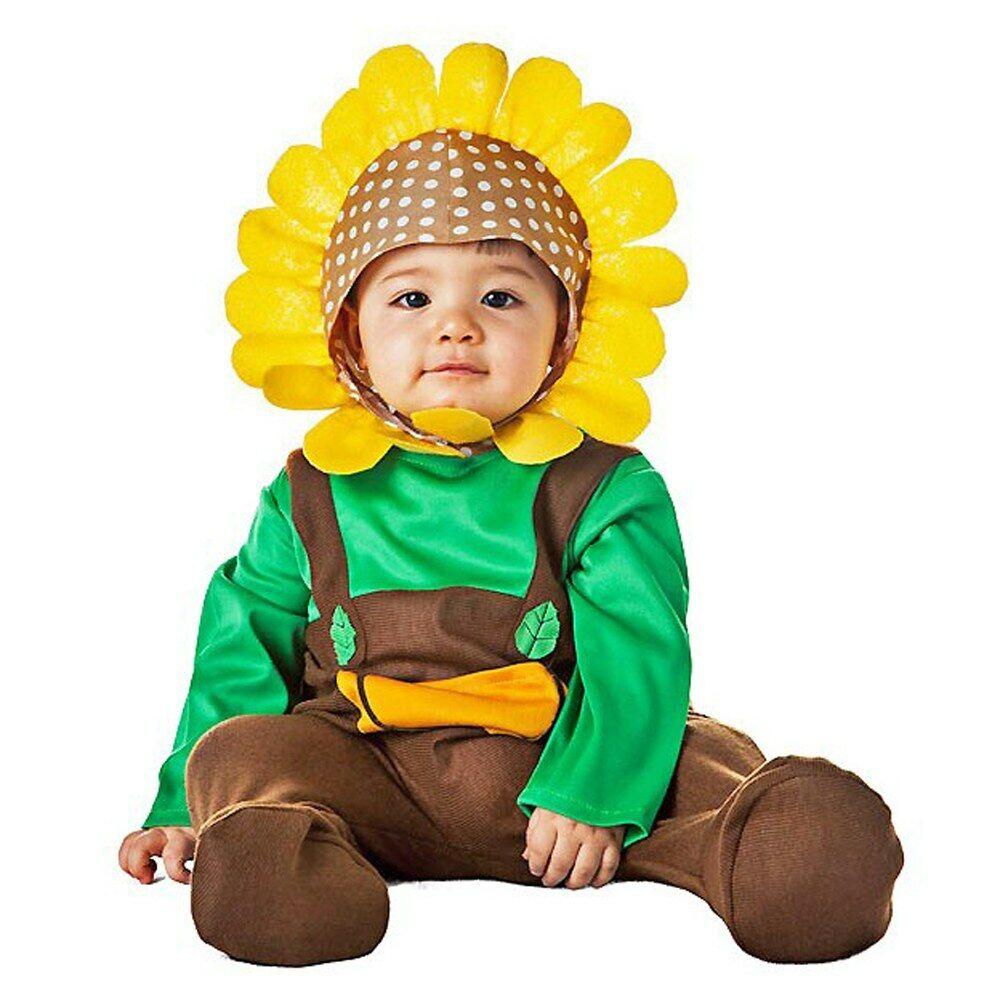 Disfraz de Girasol, Para Bebes Talla 7 a 12 meses. Disfraces Carnaval, Halloween
