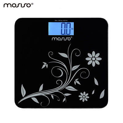 Mosiso Digital Body Weight Scale Bathroom Tempered Glass 400 Lb 180Kg