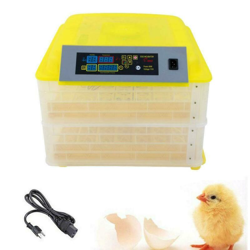 New 112 Eggs Incubator Digital Temperature Control Poultry Hatcher Duck Bird