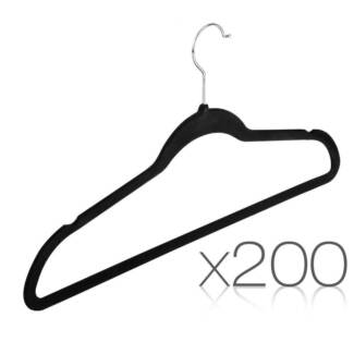 Set of 200 Velvet Coat Hangers