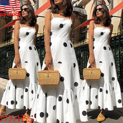 USA Women Boho Long Maxi Dress Lady Cocktail Party Evening Summer Beach Sundress