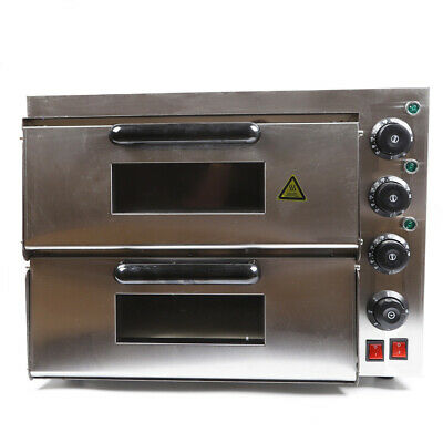 Electric Pizza Oven 3kw Kitchen Baking Euipment Double Layers Pizza Bake Oven