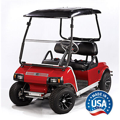 Club Car DS (00.5-Up) Clear Fold Down Golf Cart Windshield - US Made