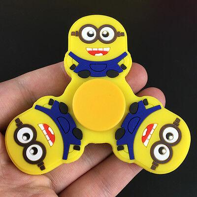 cartoon Minions Tri Fidget Spinner Hand Finger EDC Focus Desk Toy Gyro