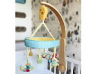 Little Bird Told Me - Butterfly and Snail Luxury Cot Mobile