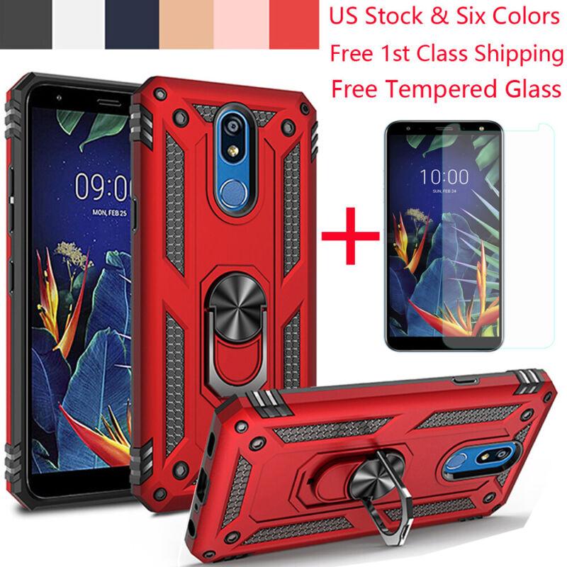 For LG K40/K50/Q60 Shockproof Armor Magnetic Ring Holder Sta