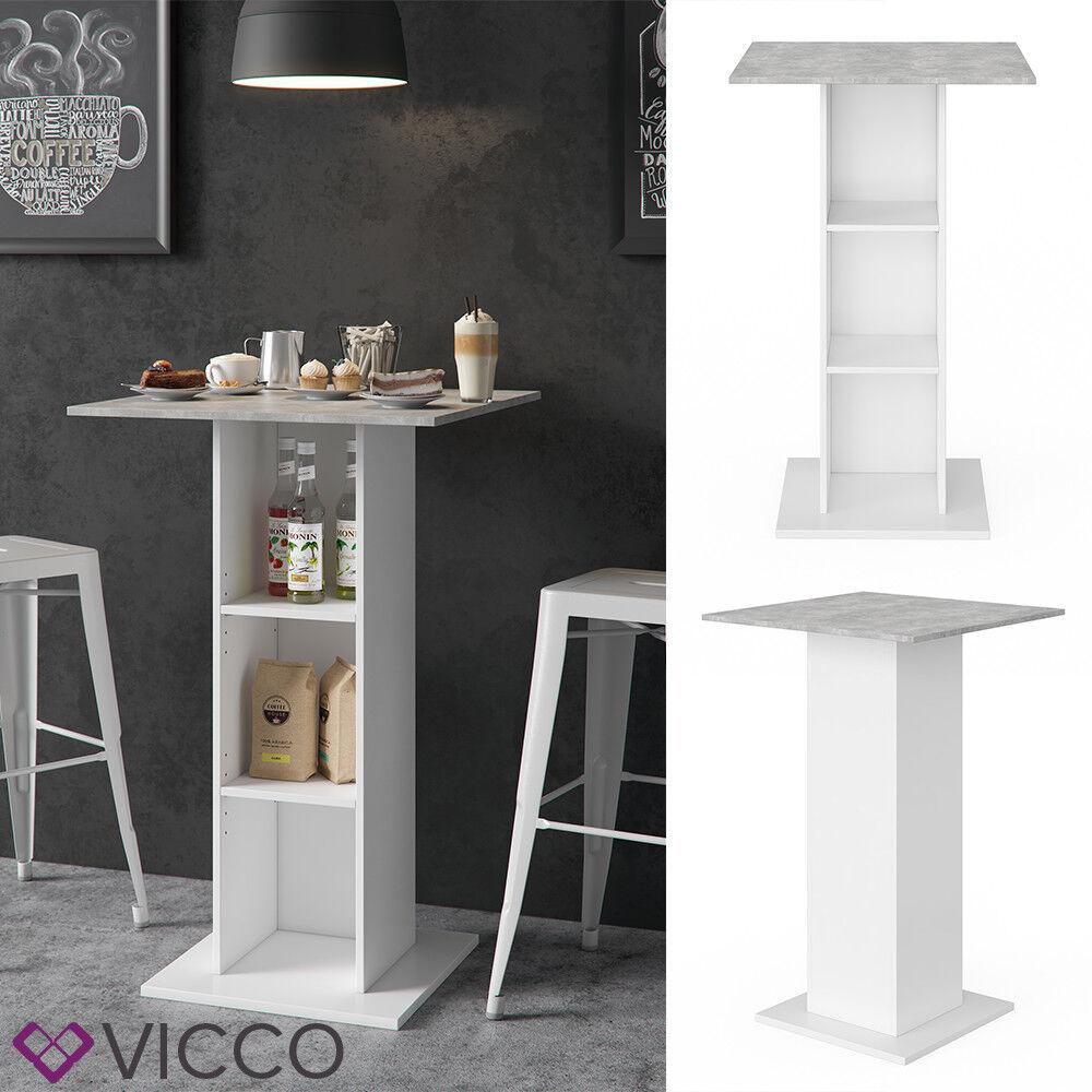 Vicco Bartisch RODEO Stehtisch Loungetisch Tresentisch Tisch Küchentisch Regal