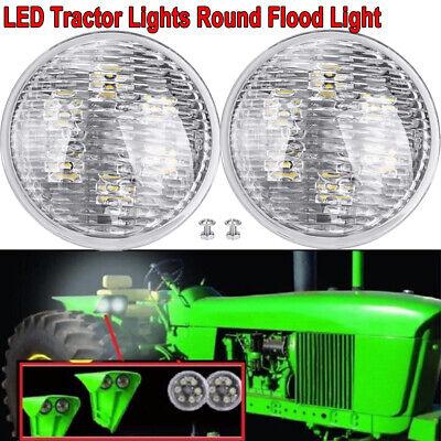 2x 4.5 Led Tractor Flood Light For John Deere Standard-tread Tractors 5010 5020