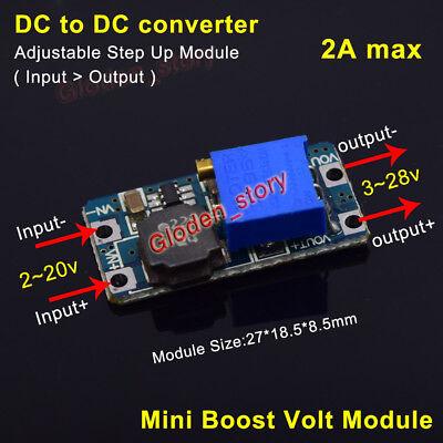 2a Dc-dc Boost Buck Converter Step Up Voltage Module Adjustable 3v 5v 9v 12v 24v