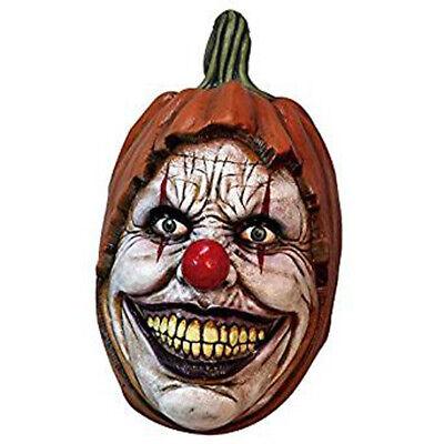 Scary Böser Clown Schnitzerei Gruselig Kürbis Latex Überkopf Adult Halloween