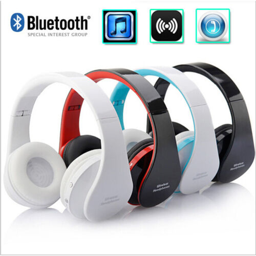Foldable Wireless Bluetooth Mic Headphones Stereo Earphones