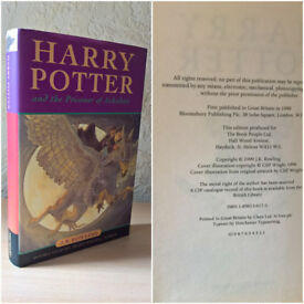 Harry Potter and the Prisoner Of Azkaban, J.K. Rowling [1st Edition/ 1st Printing]