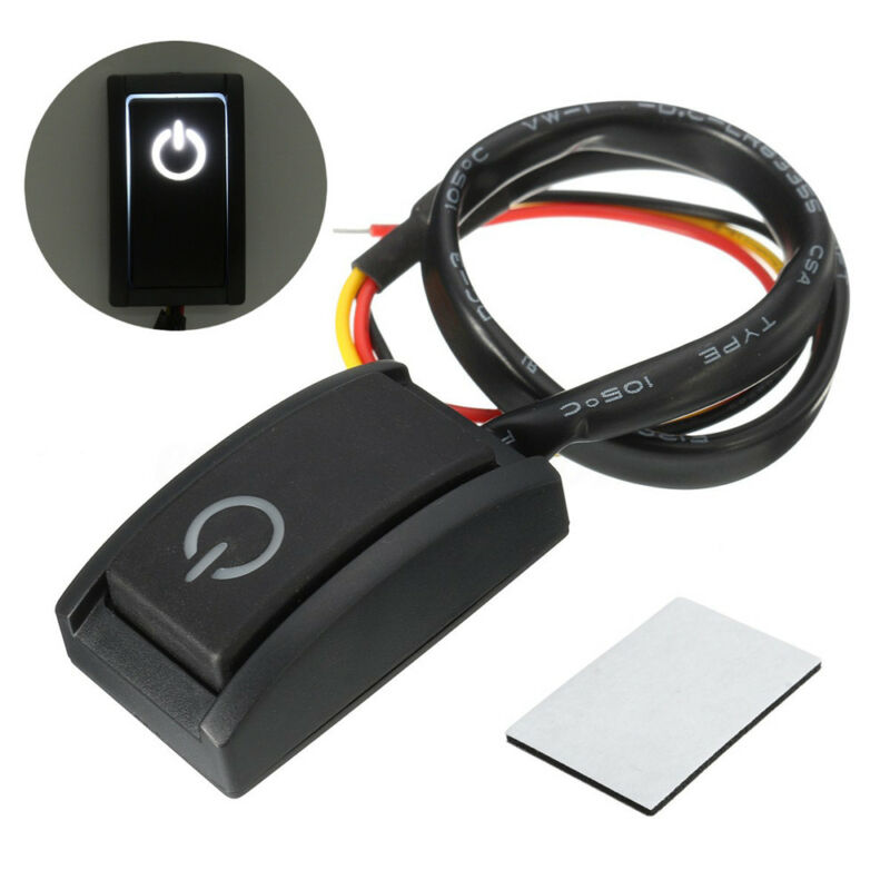 Orange Latching On Off Light Push Button Black Switch Race And Rally 12V