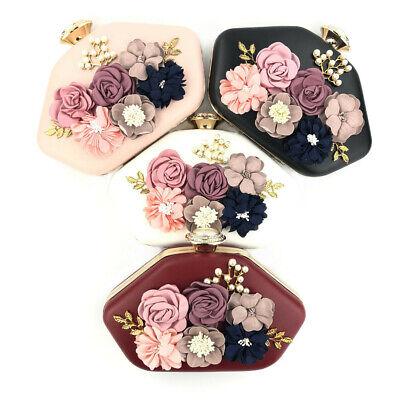 Round Metal Purse Handbag (Round Womens Bags Floral Embroidery Evening Handbag Party Cocktail Wedding)