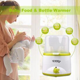 Baby Bottle Warmer - TOKKY Double Bottle Warmer and Breast Milk Warmer, High Speed Dual Use Food