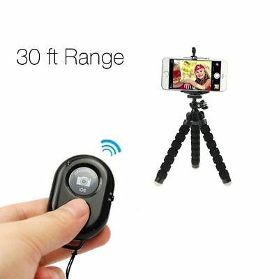 Wireless Bluetooth Remote Control Camera Shutter for iPhone iPad Android Black