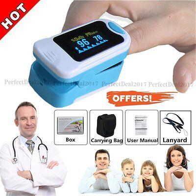 Us Spo2 Pr Finger Tip Blood Oxygen Meter Oled Pulse Monitor Oximeter Pouch Fda
