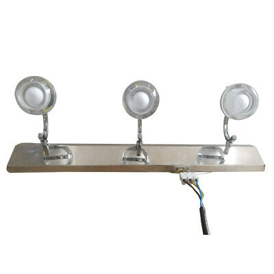 3-Light LED Vanity Fixture Polished Chrome Wall Sconces Lighting Bathroom Polished Chrome Wall