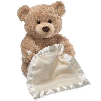 Top Quality PLUSH Animated Peek-a-Boo TEDDY BEAR with Blanket Newborn + Up