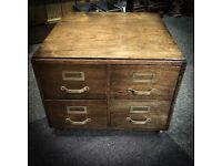 Beautiful Oak table top filing cabinet