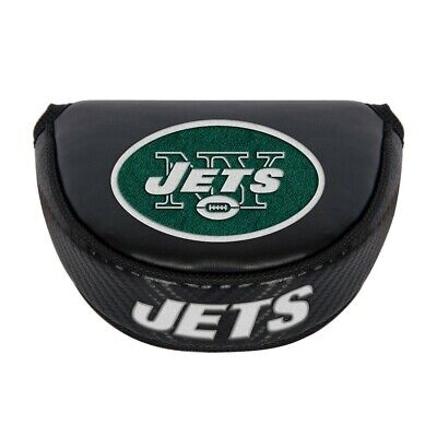 NEW YORK JETS EMBROIDERED LOGO BLACK PUTTER MALLET COVER NEW  ()