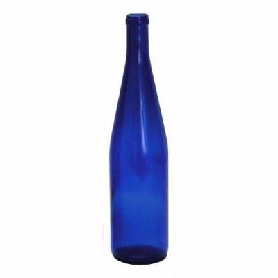 750ml Cobalt Blue California Hock Wine Bottles, 12 per case