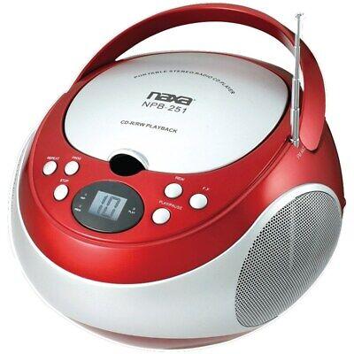 NAXA Electronics NPB-251RD Portable CD Player with AM/FM