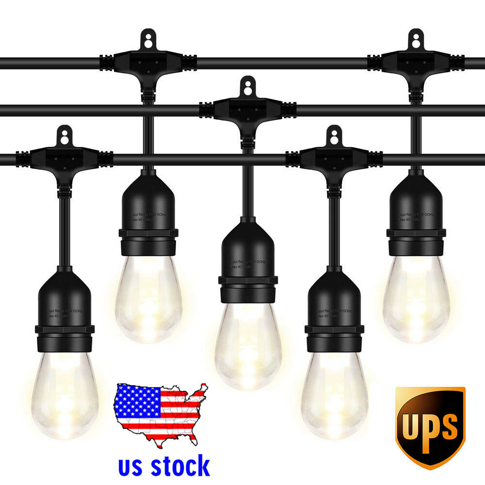 48FT LED Outdoor String Light 1.5W Dimmable Vintage Edison B
