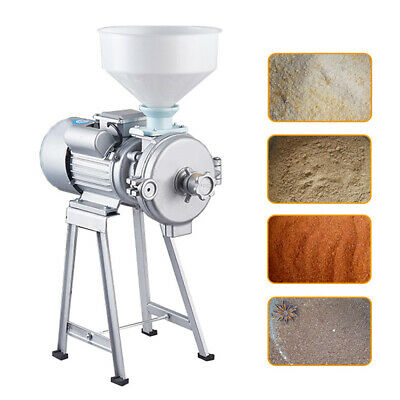 Electric Commercial 9.57a Wet Dry Grinder Machine For Corn Grain Wheat Coffee Us