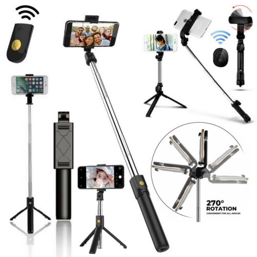 extendable selfie stick with bluetooth remote shutter