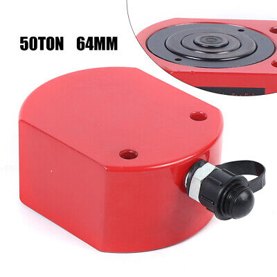 50 Ton Low Height Profile Hydraulic Cylinder Jack Ram Lifting 64mm Stroke