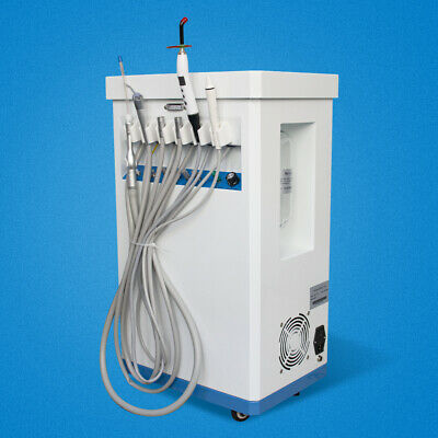 Mobile Portable Dental Delivery Treatment Cart Unit Air Compressor Suction 4hole