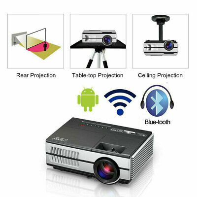 EUG WiFi Projector 1080p Full HD Netflix Android 6.0 Airplay For iPhone 2800lms
