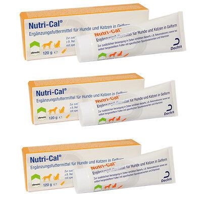 3 x Albrecht Nutri-Cal Paste 120 g Energie und Vitamine für Hunde und