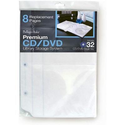 Bellagio-Italia CD/DVD Disc Storage Wallets Binder Insert 2 Packs (Dvd Storage Binder Inserts)